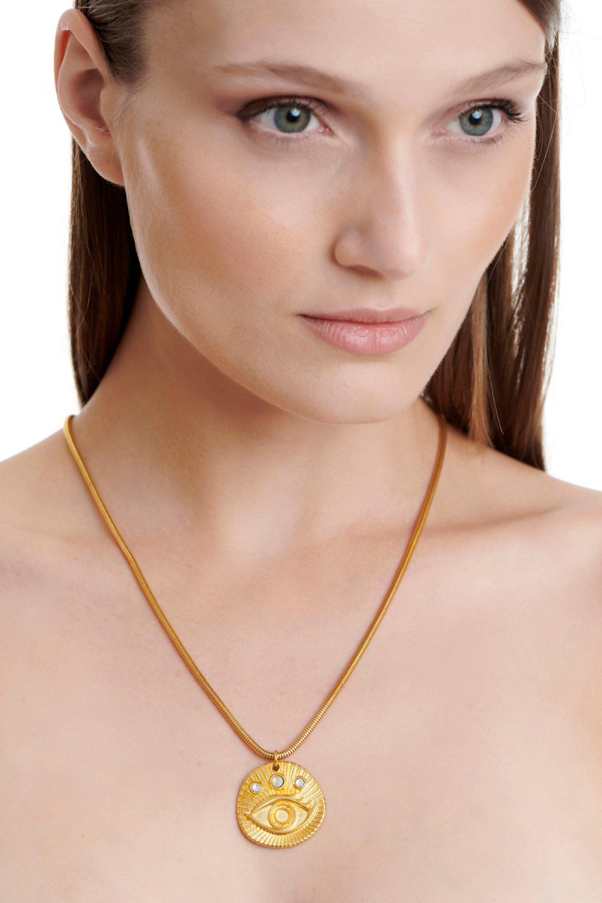 GOLDEN NECKLACE WITH EVIL EYE