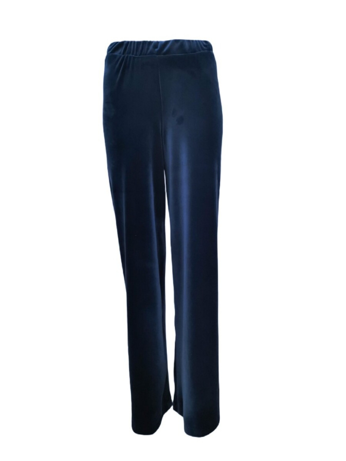 BLUE VELVET WIDE LEG TROUSERS