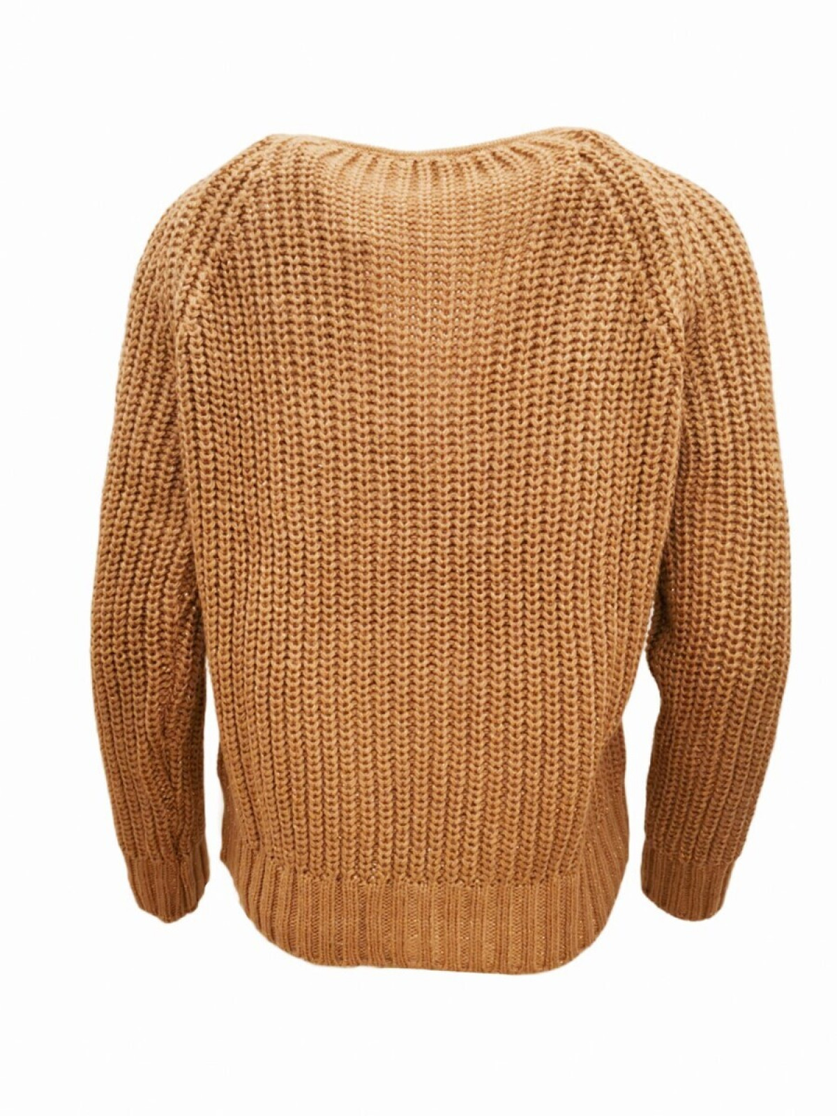 CHUNKY SWEATER WITH LUREX DETAILING CARAMEL