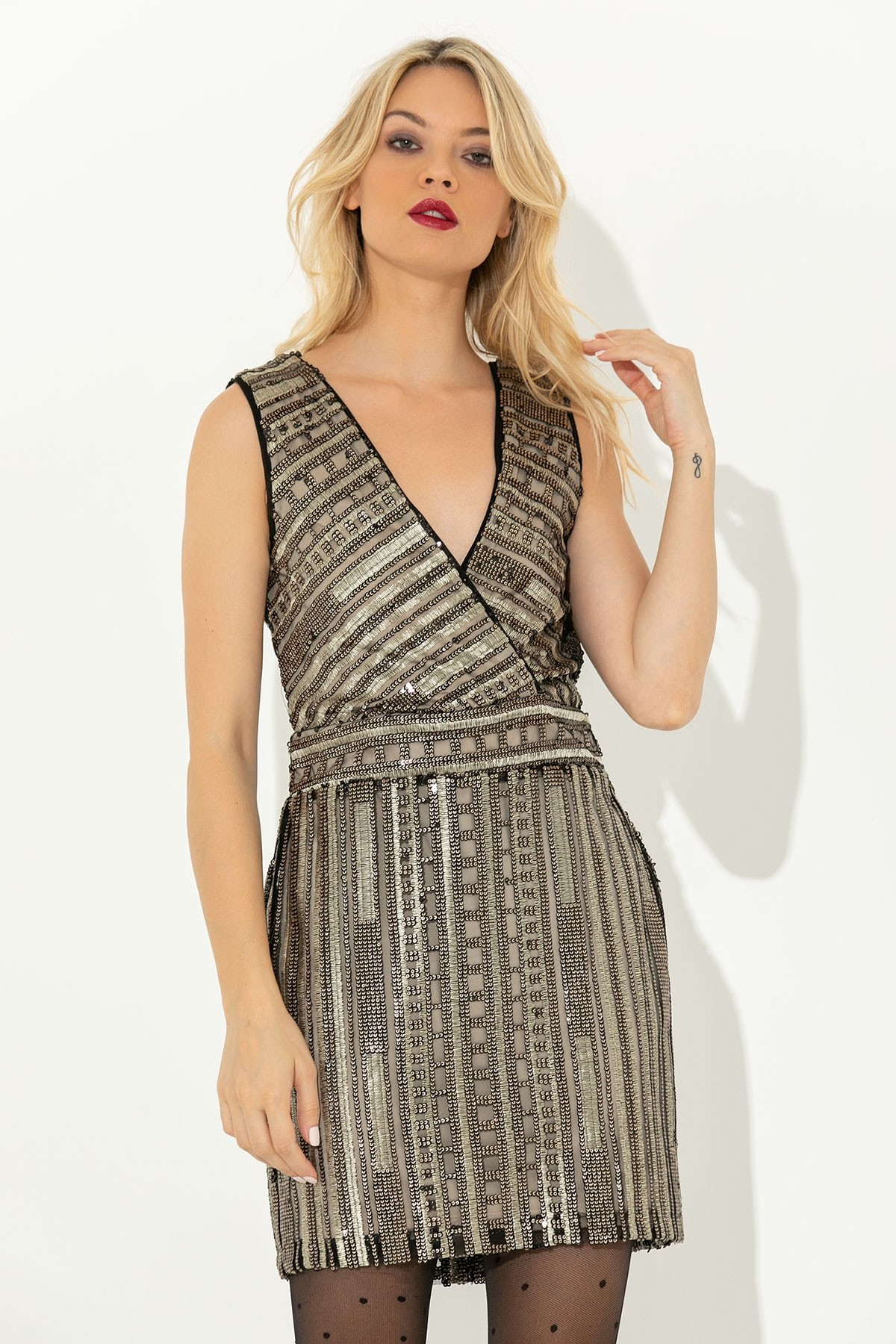 MINI SEQUIN PARTY DRESS
