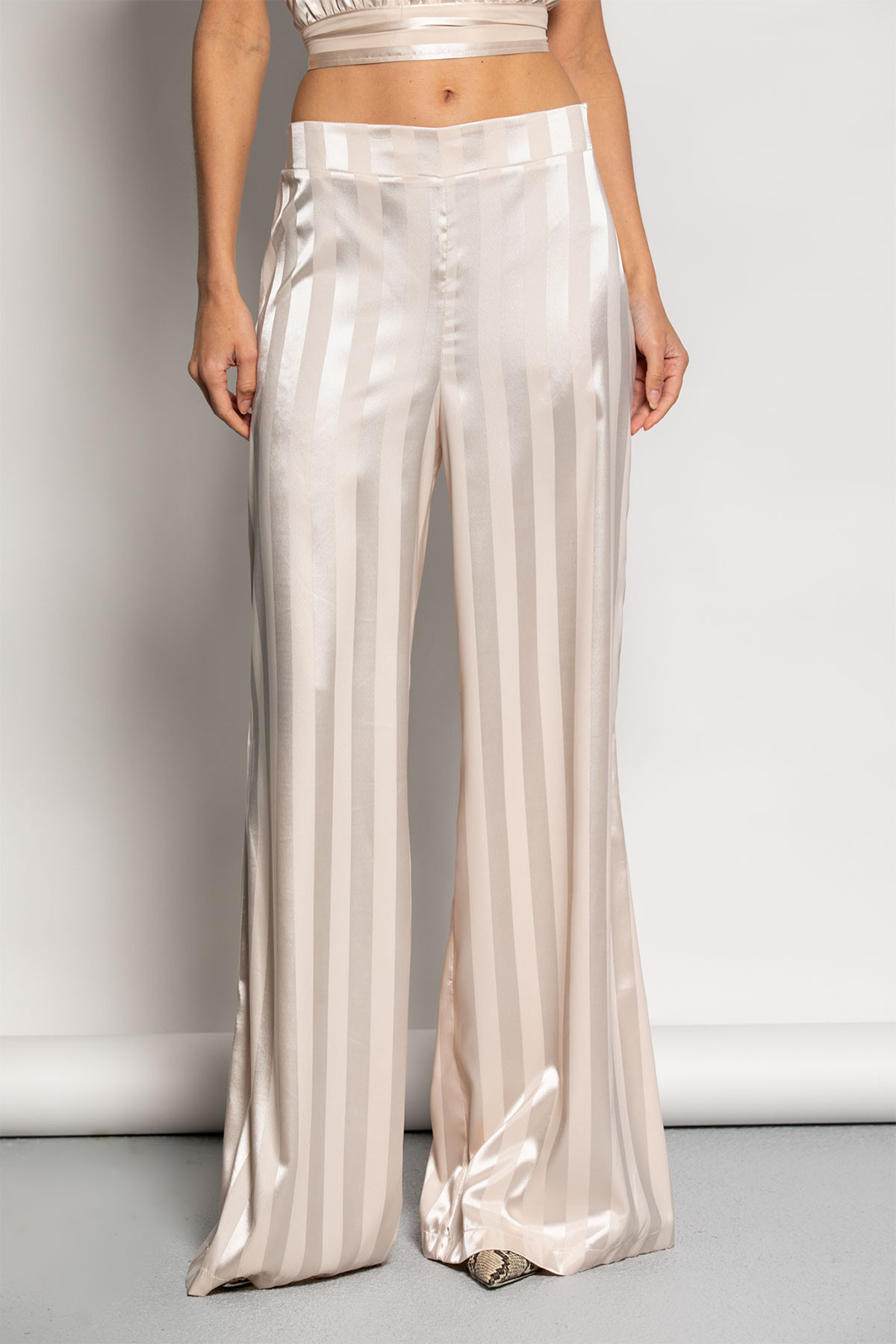 SATIN WIDE LEG TROUSERS