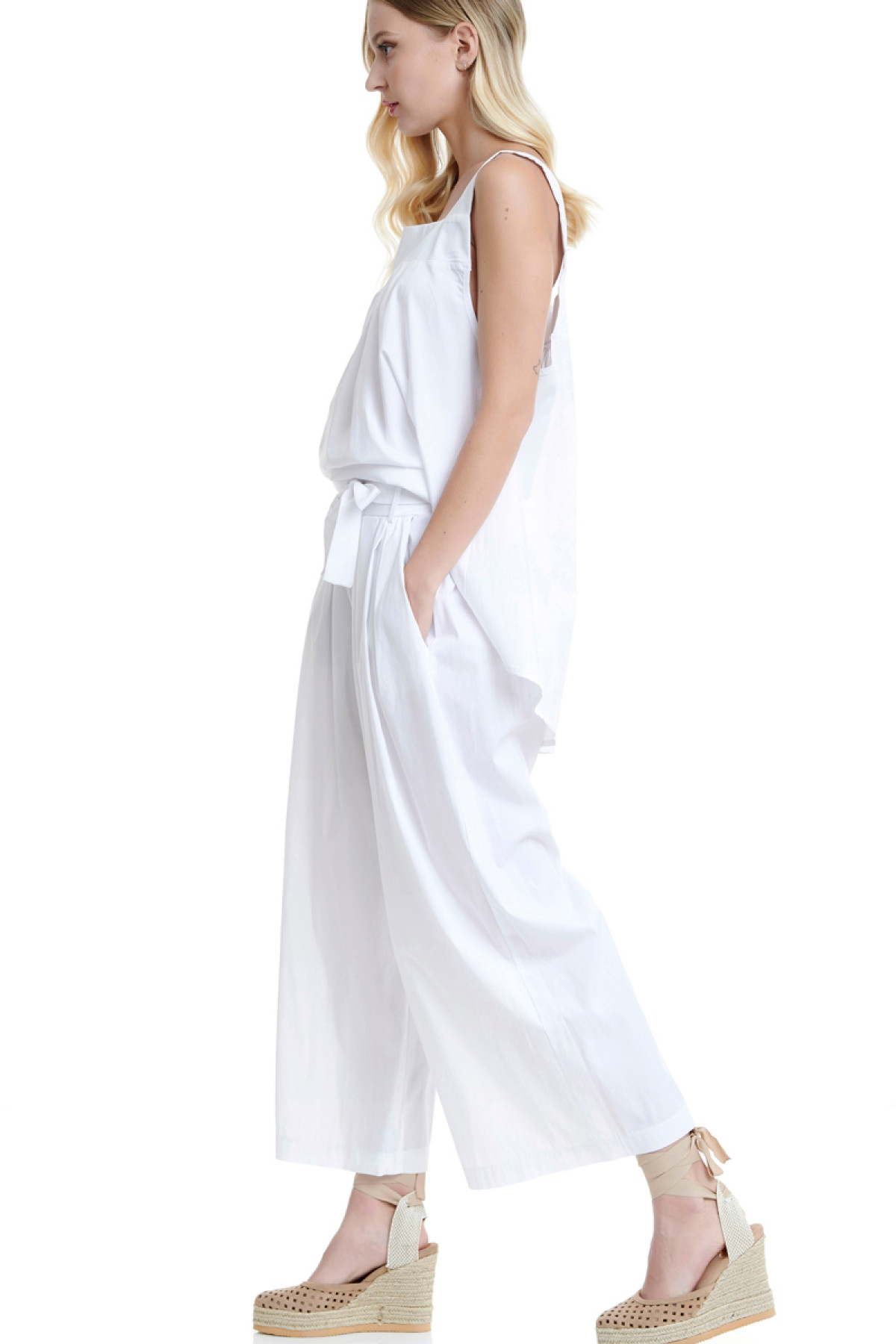 WHITE CULOTTE TROUSERS