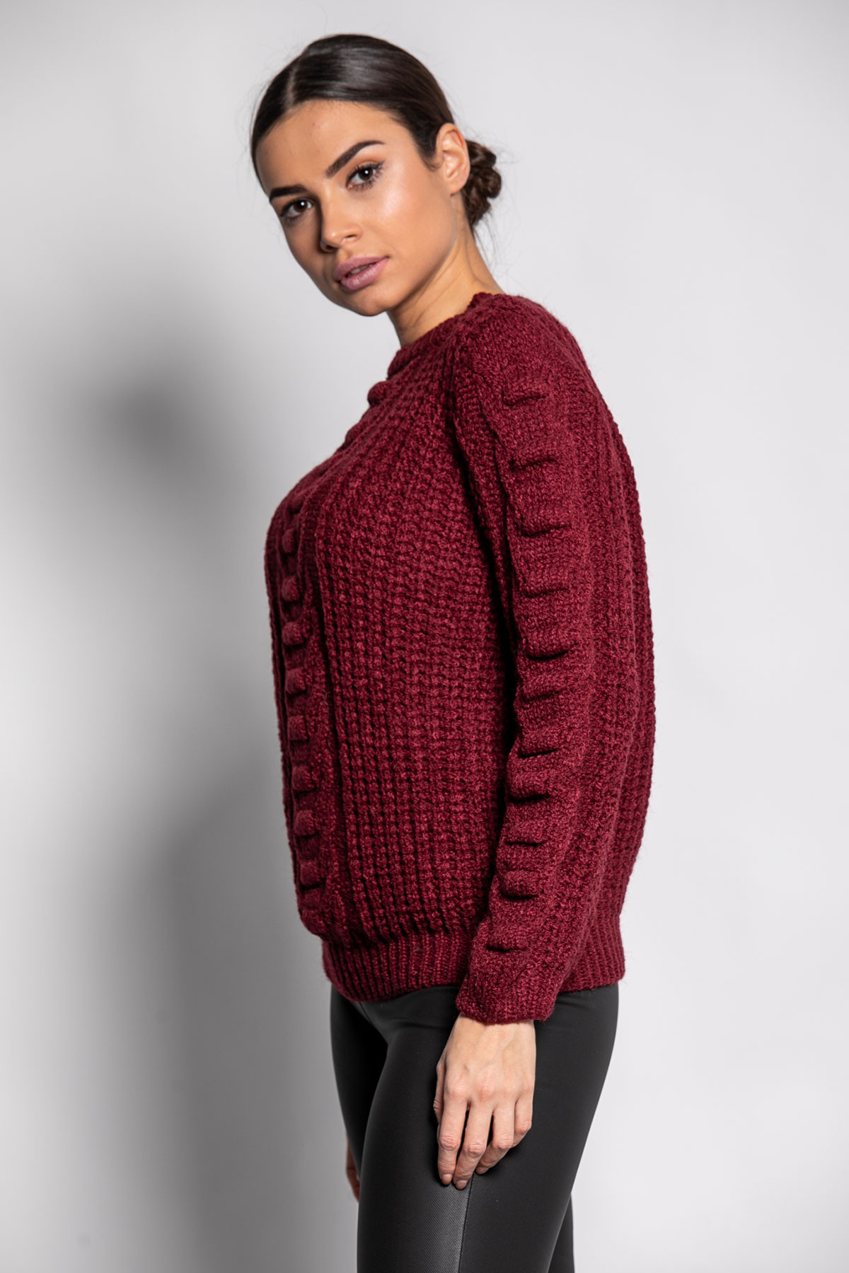 BORDEAUX SOFT KNITTED BLOUSE