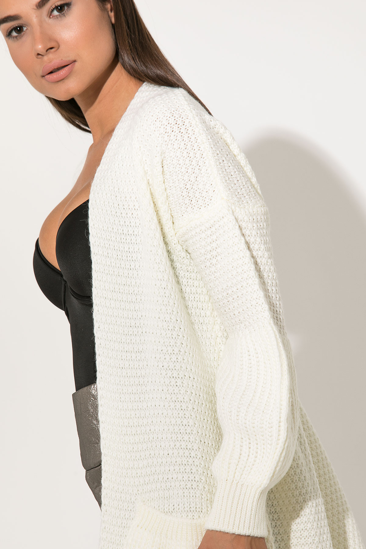 OFF WHITE CHUNKY CARDIGAN