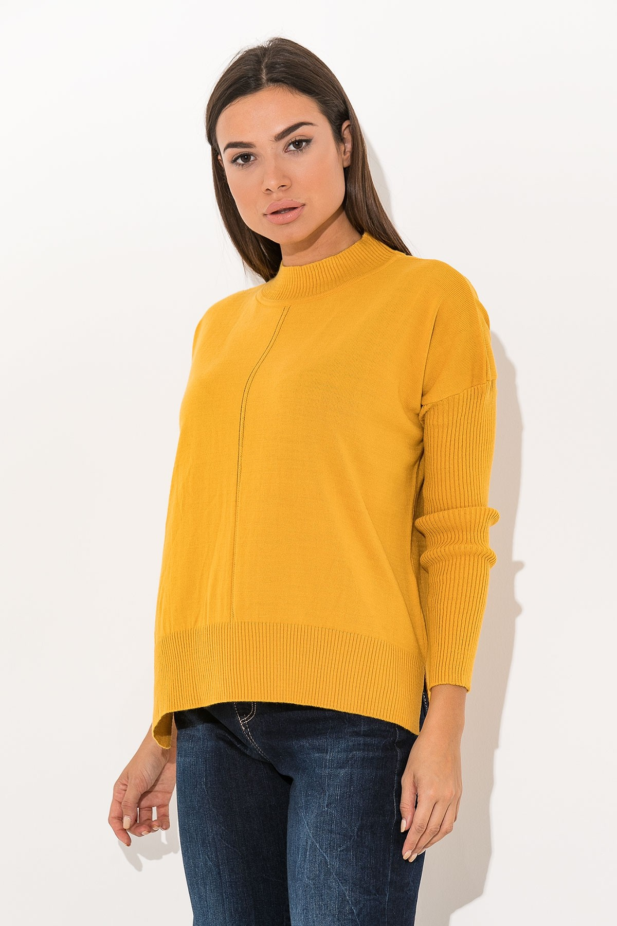 OCHER BASIC KNIT TOP