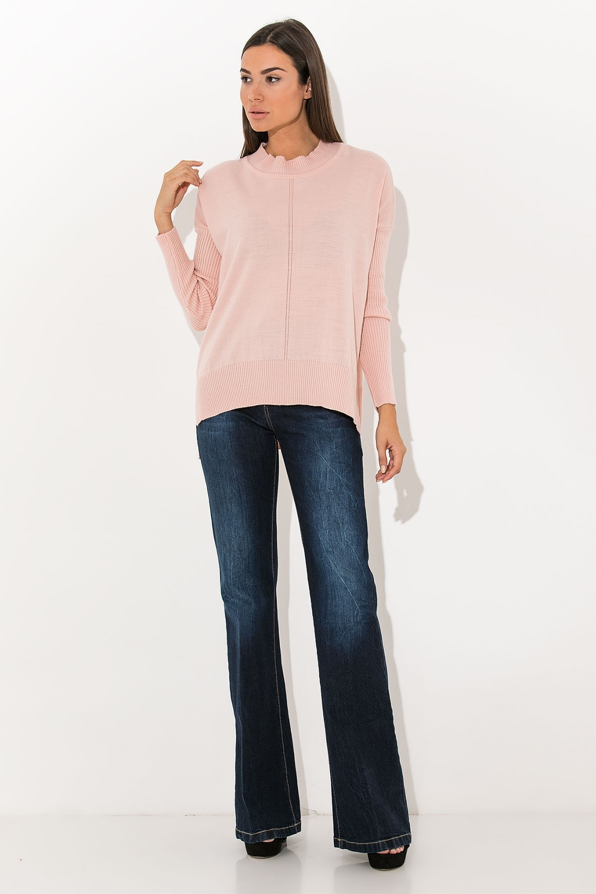 PINK BASIC KNIT TOP