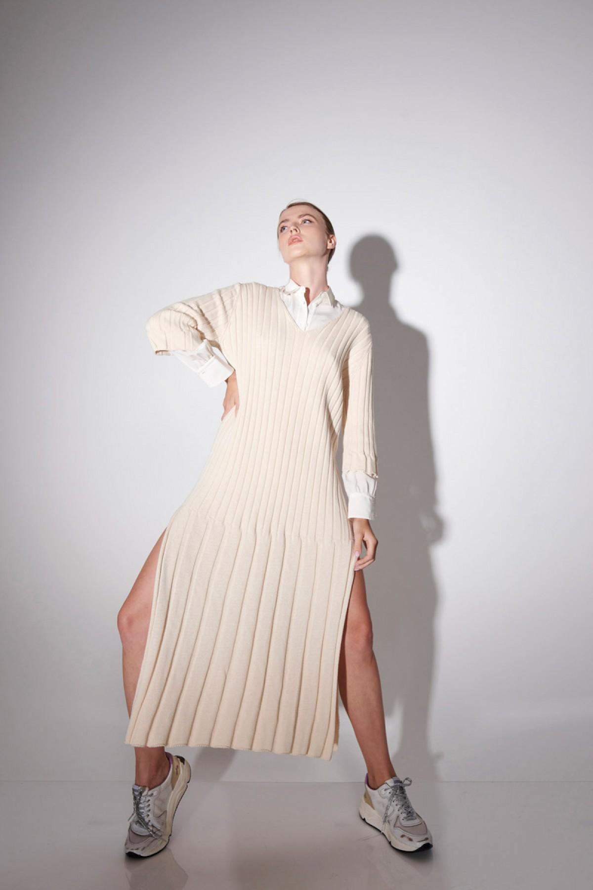 COTTON RIBBED DRESS
