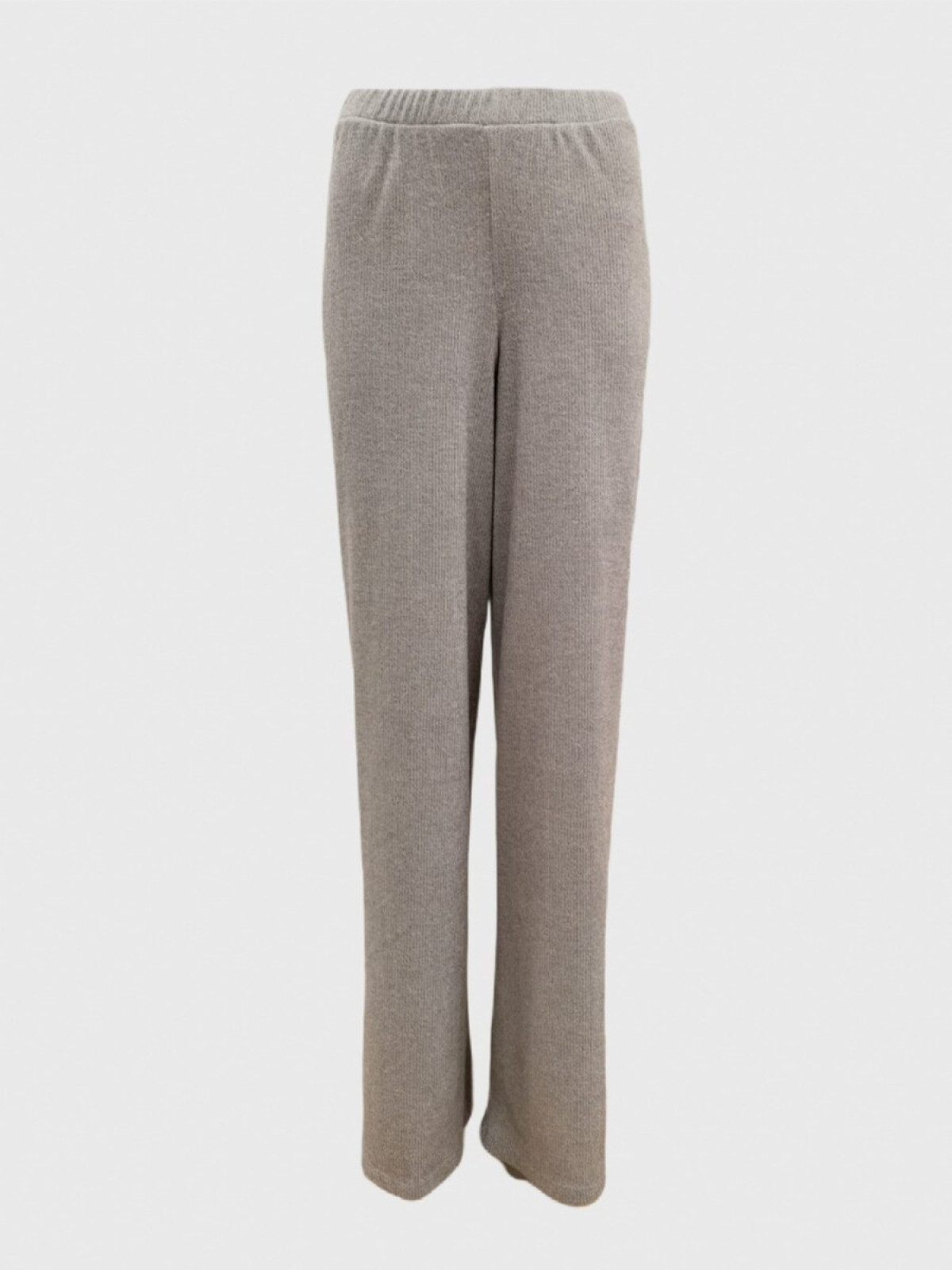 GRAY KNIT TROUSERS