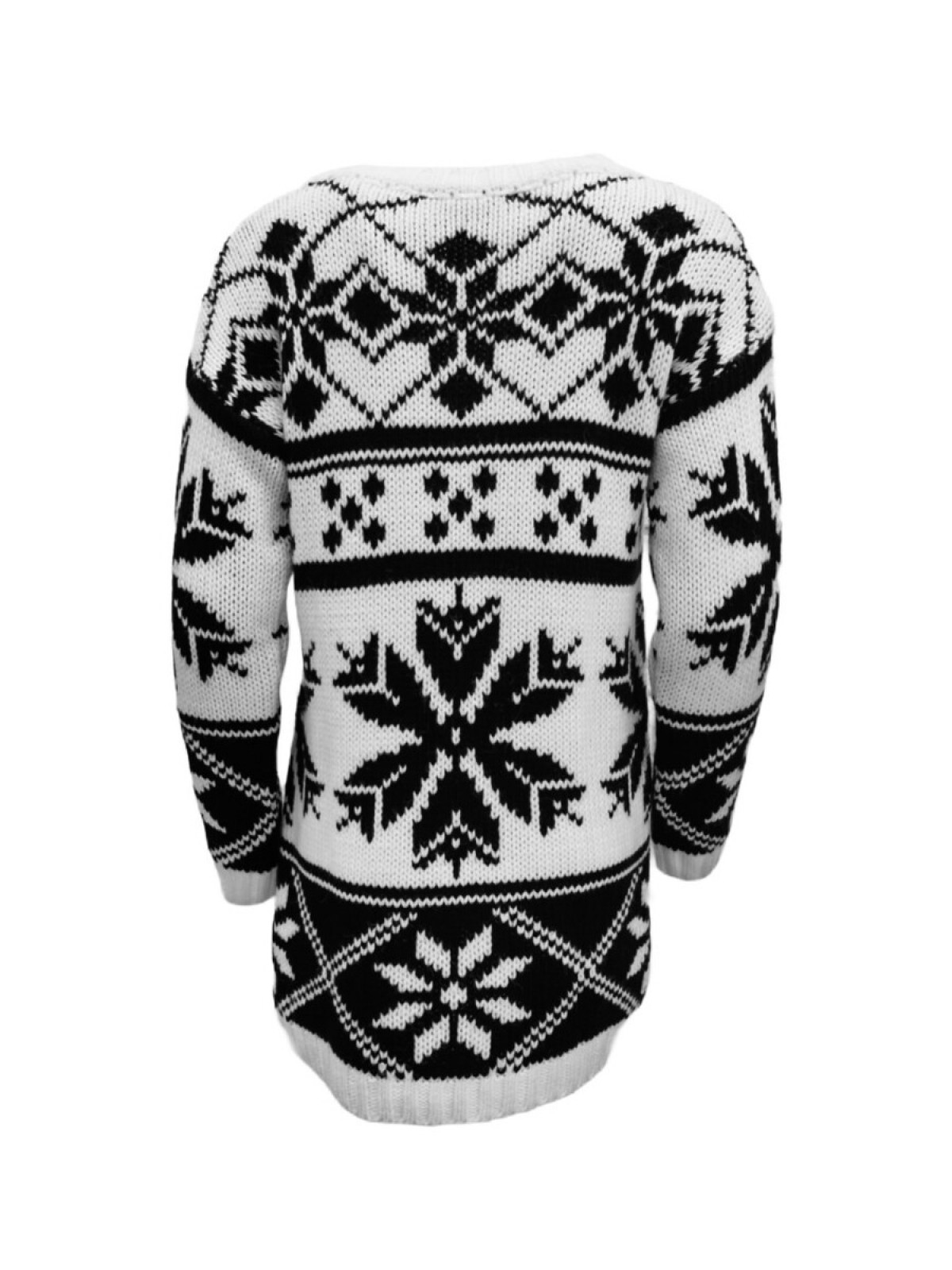 SNOWFLAKE CHUNKY KNIT SWEATER
